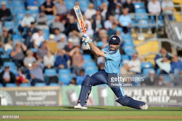 Shaun Marsh of Yorkshire batting during the NatWest T20 blast between Yorkshire Vikings and Durham at Headingley on July 26 2017 in Leeds England