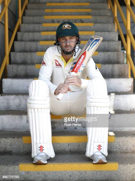 Shaun Marsh poses during a portrait session ahead of the Third Test in the 2017/18 Ashes Series at WACA on December 12 2017 in Perth Australia