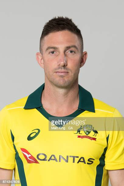 Shaun Marsh poses during the Australia One Day International Team Headshots Session at Intercontinental Double Bay on October 15 2017 in Sydney...