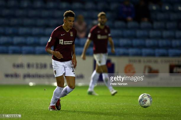 Shaun McWilliams of Northampton Town in action during the Sky Bet League Two match between Carlisle United and Northampton Town at Brunton Park on...