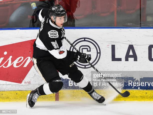 Shaun Miller of the BlainvilleBoisbriand Armada skates against the BaieComeau Drakkar during the QMJHL game at Centre d'Excellence Sports Rousseau on...