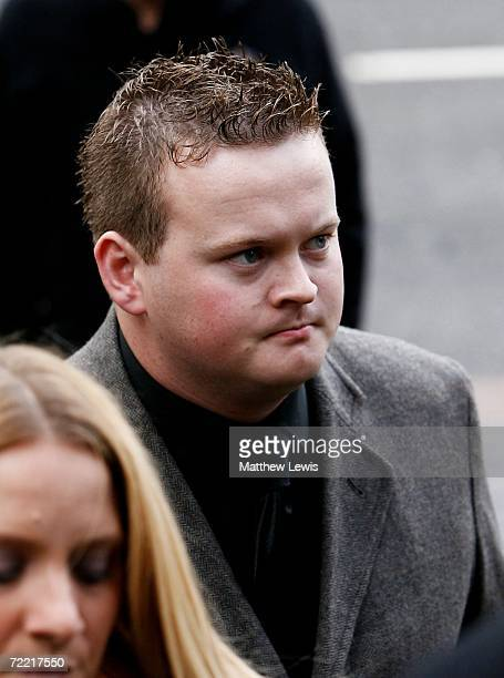 Shaun Murphy attends the funeral of Paul Hunter at Leeds Parish Church on October 19 2006 in Leeds England The threetime Masters champion lost his...