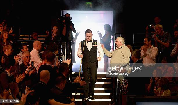 Shaun Murphy enters the arena ahead of the final of the 2015 Betfred World Snooker Championship at Crucible Theatre on May 4 2015 in Sheffield England