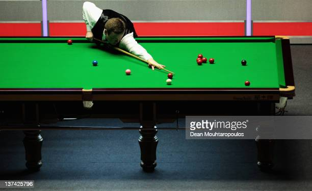 Shaun Murphy of England in action during his Quater Final match with Mark Selby of England during day six of The Masters at Alexandra Palace on...