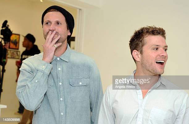 Shaun Neff of Neff Headwear and actor Ryan Phillippe attend the Neff Headwear and the Seventh Letter Sesame Street Art Exhibit in Los Angeles...