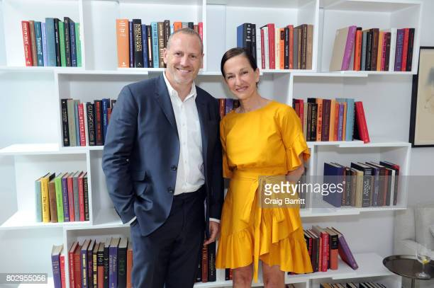 Shaun Osher and Cynthia Rowley attend Surface Magazine presents Design Dialogues No 37 featuring Cynthia Rowley and Shaun Osher on June 28 2017 in...