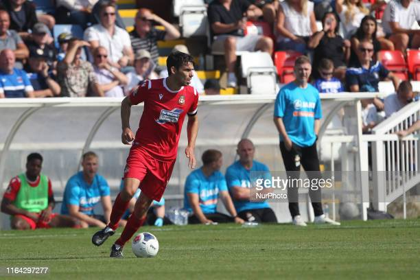 Shaun Pearson of Wrexham during the Vanarama National League match between Hartlepool United and Wrexham at Victoria Park Hartlepool on Monday 26th...