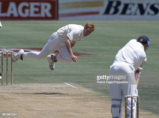 Shaun Pollock bowling for South Africa during the 1st Test match between South Africa and England at Centurion Park Centurion South Africa 17th...
