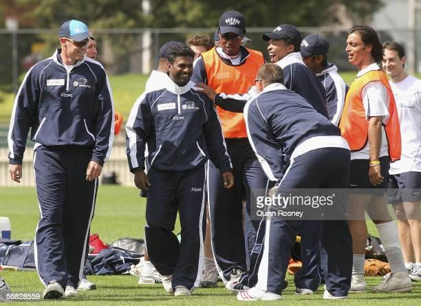 Shaun Pollock of South Africa Muttiah Muralitharan of Sri Lanka Chris Gayle of the West Indies Jacques Kallis of South Africa Makhaya Ntini of South...
