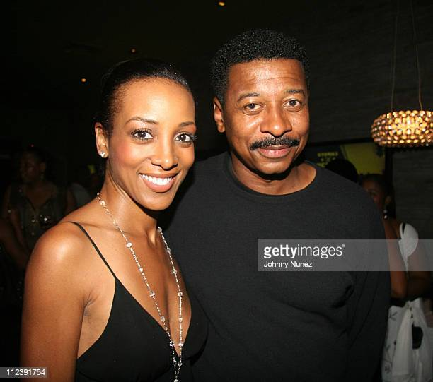 Shaun Robinson and Robert Townsend during ABFF and Walmart VIP Reception July 22 2006 at Santo Restaurant in Miami Florida United States