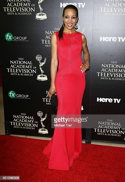 Shaun Robinson arrives at the 41st Annual Daytime Emmy Awards held at The Beverly Hilton Hotel on June 22 2014 in Beverly Hills California