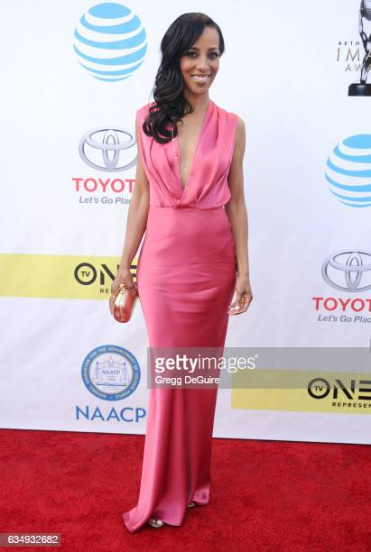 Shaun Robinson arrives at the 48th NAACP Image Awards at Pasadena Civic Auditorium on February 11 2017 in Pasadena California