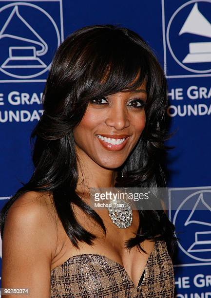 Shaun Robinson arrives to The GRAMMY Foundation Music Preservation Project Presents Cue The Music held at The Wilshire Ebell Theatre on January 28...