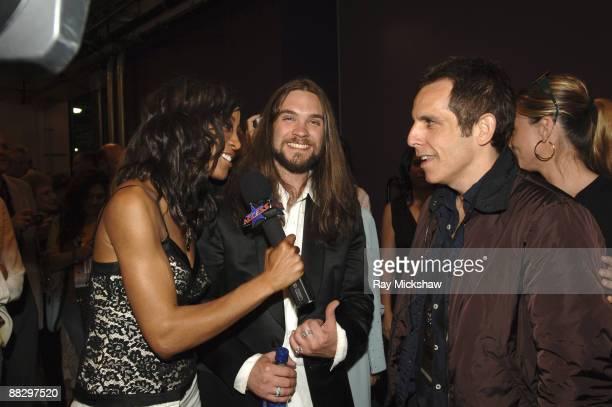 "Shaun Robinson, Bo Bice, ""American Idol"" Season 4 Top 2 Finalist and Ben Stiller"