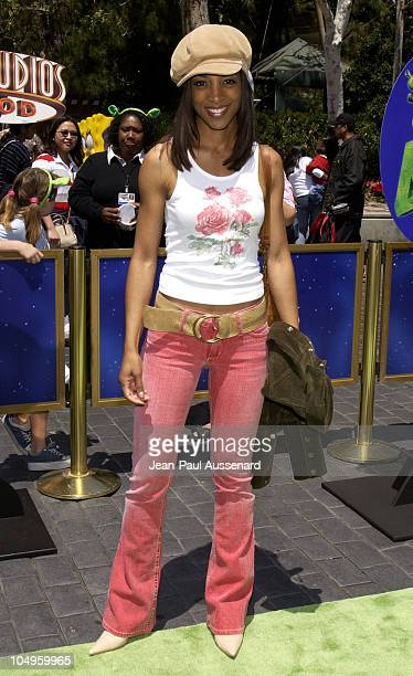 Shaun Robinson during Premiere of Shrek 4D Attraction at Universal Studios Hollywood Arrivals at Universal Studios in Universal City California...