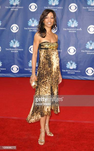 Shaun Robinson during The 32nd Annual People's Choice Awards Arrivals at Shrine Auditorium in Los Angeles California United States
