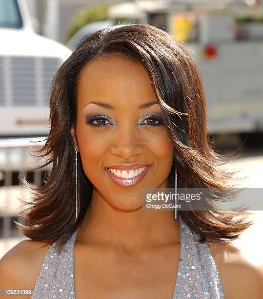 Shaun Robinson during The 8th Annual Soul Train Lady Of Soul Awards Arrivals at Pasadena Civic Auditorium in Pasadena California United States