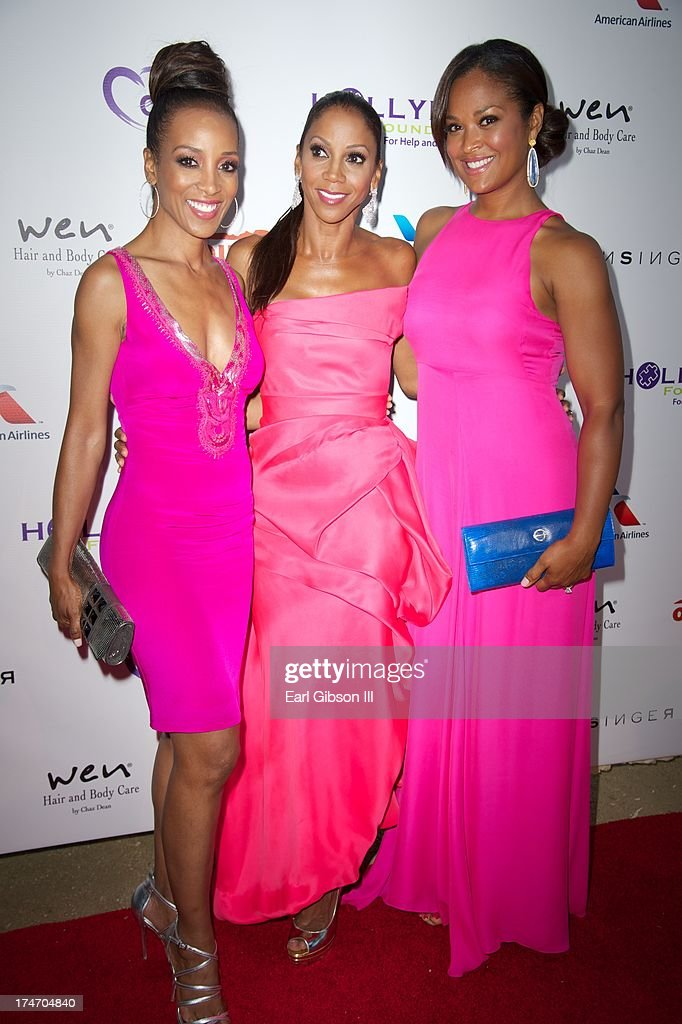 Shaun Robinson, Holly Robinson Peete and Laila Ali attend the 15th Annual DesignCare on July 27, 2013 in Malibu, California.