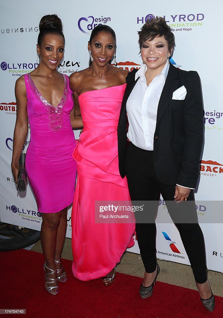 Shaun Robinson, Holly Robinson Peete and Tisha Campbell-Martin attend the 15th annual DesignCare charity event on July 27, 2013 in Malibu, California.