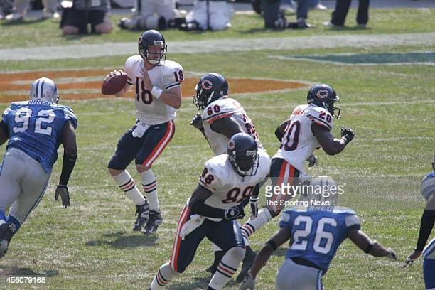 Shaun Rogers and Kenoy Kennedy of the Detroit Lions in action during a game against the Chicago Bears on September 18 2005 at Soldier Field in...