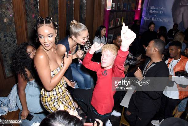 Shaun Ross and guests attend Bella Hadid x True Religion Event Campaign Party at Poppy on October 18 2018 in Los Angeles California