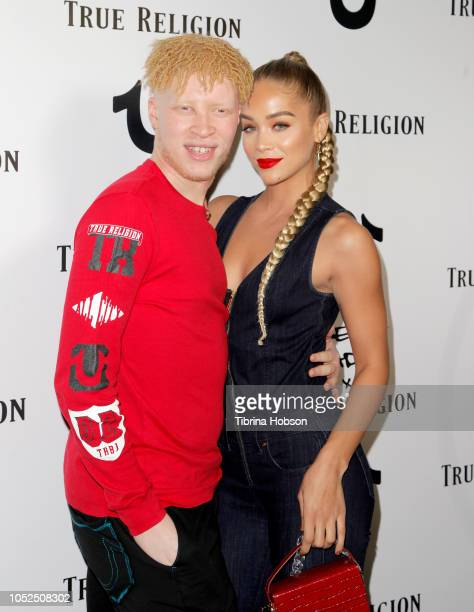 b47fa798 Shaun Ross and Jasmine Sanders attend the Bella Hadid x True Religion Event  at Poppy on. Editorial use only