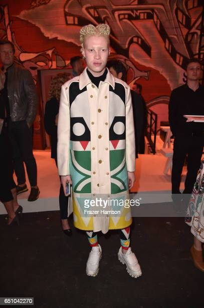 Shaun Ross attends the Hermes Dwtwn Men s/s17 Runway Show on March 9 2017 in Los Angeles California