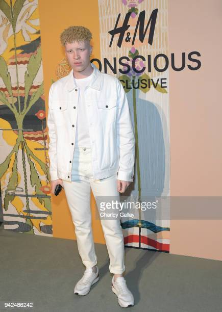 Shaun Ross attends the HM celebration of 2018 Conscious Exclusive collection at John Lautner's Harvey House on April 5 2018 in Los Angeles California