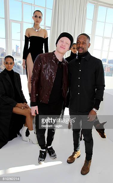 Shaun Ross LaQuan Smith and models pose during SheaMoisture at Laquan Smith F/W 2016 NYFW at Jack Studios on February 14 2016 in New York City