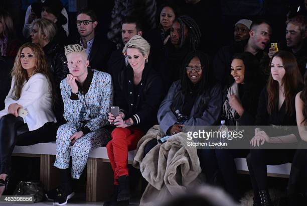 Shaun Ross Natalia Getty Whoopi Goldberg and Jerzey Dean attend the August Getty fashion show during MercedesBenz Fashion Week Fall 2015 at The Salon...