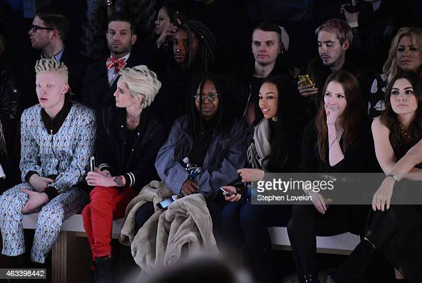 Shaun Ross Natalia Getty Whoopi Goldberg Jerzey Dean and Sophie Simmons attend the August Getty fashion show during MercedesBenz Fashion Week Fall...