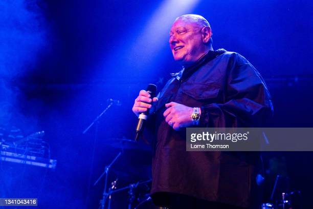 Shaun Ryder of Black Grape performs at O2 Academy Islington on September 17, 2021 in London, England.