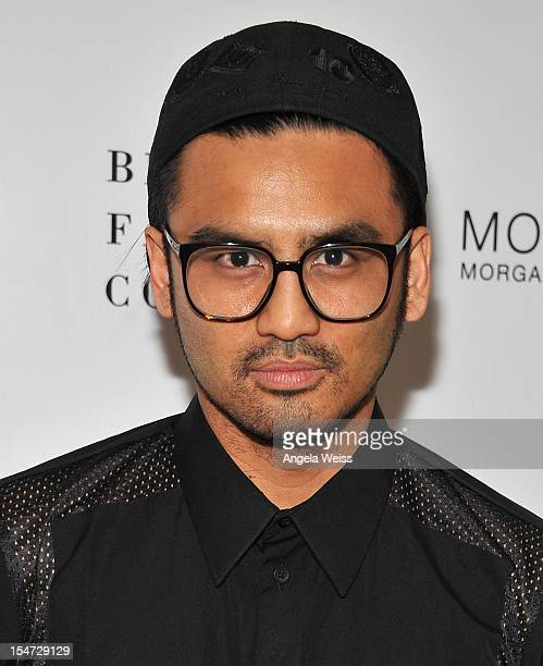 Shaun Samson arrives to The British Fashion Council cocktail party celebrating LONDON show ROOMS LA at SkyBar at Mondrian Los Angeles on October 24...