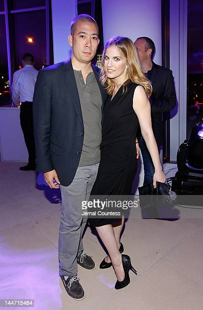 Shaun So and actress Anna Chlumsky at the IAC & Aereo IWNY HQ Closing Party on May 17, 2012 in New York City.