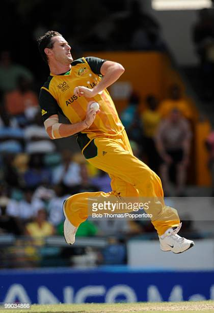Shaun Tait of Australia bowls during The ICC World Twenty20 Group A Match between Bangladesh and Australia played at The Kensington Oval on May 5...