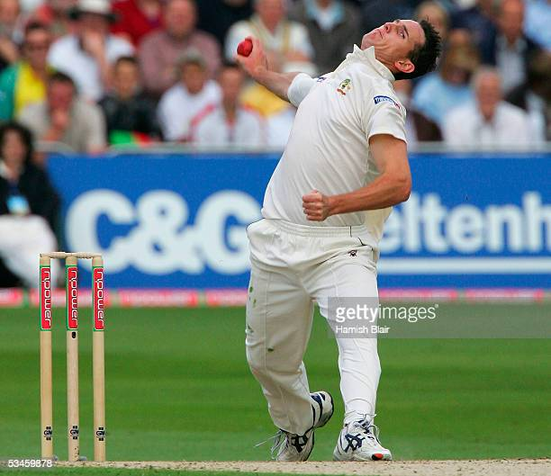 Shaun Tait of Australia in action during day one of the Fourth npower Ashes Test between England and Australia played at Trent Bridge on August 25...