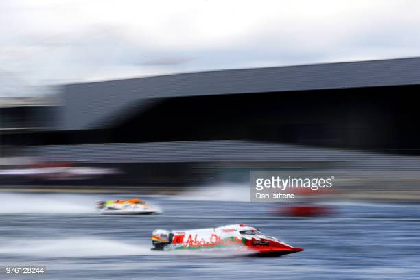 Shaun Torrente of the United States and Team Abu Dhabi in action during free practice ahead of round two of the 2018 Championship the F1H2O UIM...