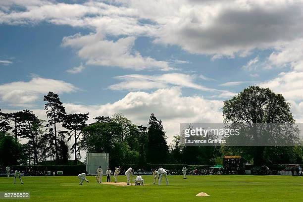 Shaun Udal of Hampshire bowls during the CG Trophy match between Shropshire and Hampshire at Whitchurch County Cricket Club on May 4 2005 in...