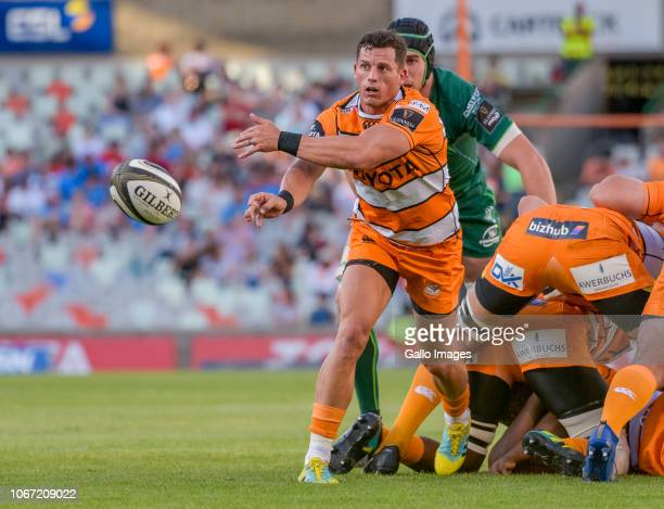 Shaun Venter of Toyota Cheetahs during the Guinness Pro14 match between Toyota Cheetahs and Connacht at Toyota Stadium on December 01 2018 in...