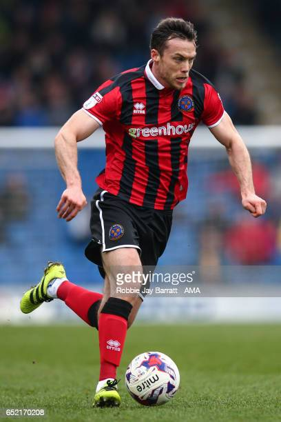 Shaun Whalley of Shrewsbury Town during the Sky Bet League One match between Chesterfield and Shrewsbury Town at Proact Stadium on March 11 2017 in...