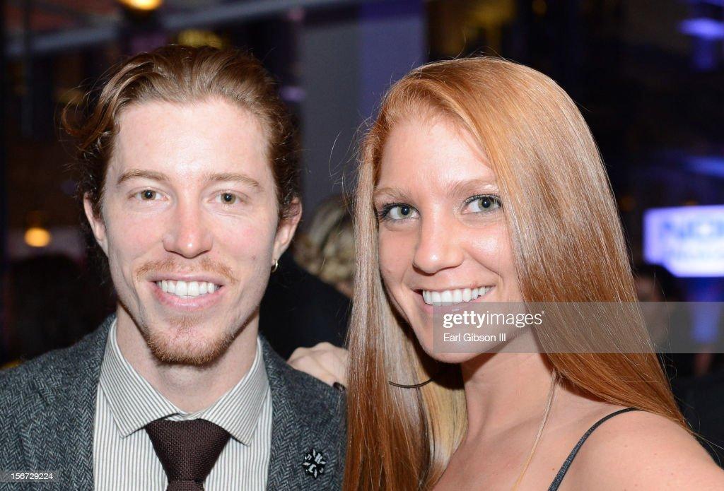 Shaun White and Guest attend the Rolling Stone Magazine Official 2012 American Music Awards VIP after party presented by Nokia and Rdio at Rolling Stone Restaurant And Lounge on November 18, 2012 in Los Angeles, California.