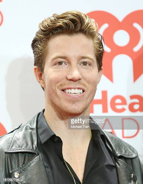 Shaun White arrives at the iHeartRadio Music Festival press room held at MGM Grand Arena on September 20 2013 in Las Vegas Nevada