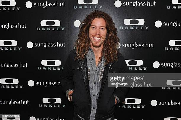 b4f46ae74d Shaun White attends the debut of the Oakley Holbrook collection exclusively  at Sunglass Hut Flagship on