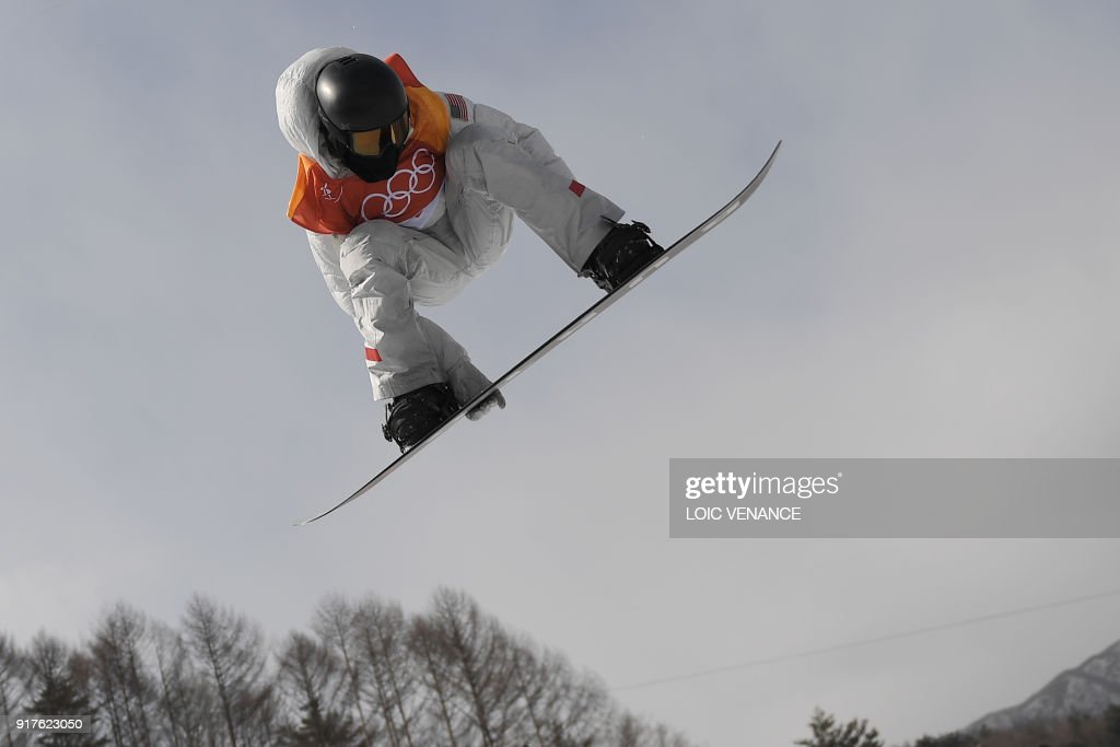 Shaun White competes during qualification of the men's snowboard halfpipe at the Phoenix Park during the Pyeongchang 2018 Winter Olympic Games on February 13, 2018 in Pyeongchang. /