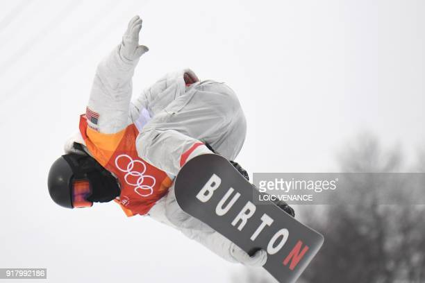 Shaun White competes to win the final of the men's snowboard halfpipe at the Phoenix Park during the Pyeongchang 2018 Winter Olympic Games on...
