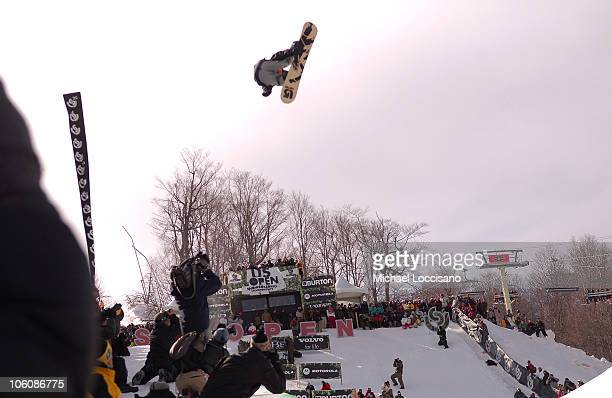 Shaun White Halfpipe Finals March 18th during 24th Annual Burton US Open Snowboarding Championships at Stratton Mountain in Stratton Vermont United...
