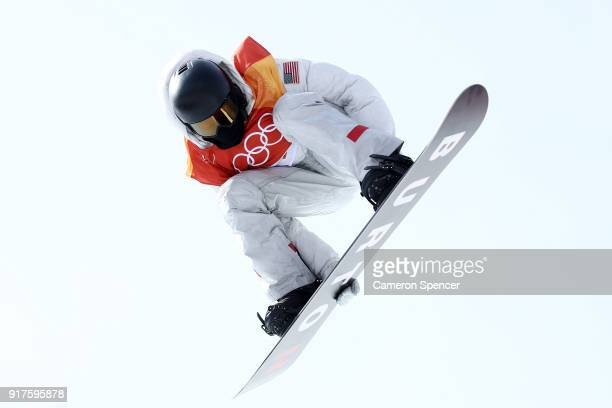 Shaun White of the United States competes during the Snowboard Men's Halfpipe Qualification on day four of the PyeongChang 2018 Winter Olympic Games...