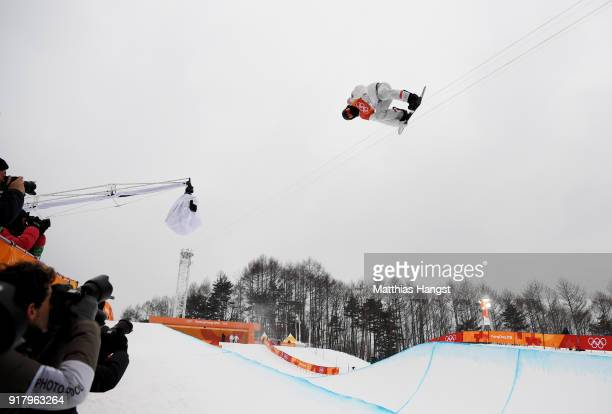 Shaun White of the United States competes in the Snowboard Men's Halfpipe Final on day five of the PyeongChang 2018 Winter Olympics at Phoenix Snow...
