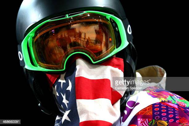 Shaun White of the United States looks on after a practice run before the Snowboard Men's Halfpipe Finals on day four of the Sochi 2014 Winter...