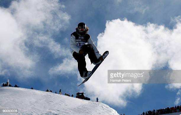 Shaun White of the United States of America competes in the Men's Snowboard Halfpipe during day five of the Winter Games NZ at Cardrona Alpine Resort...